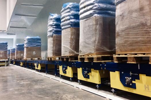 Tipos de transportadores de carga pesada e paletes