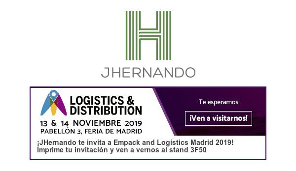 JHernando estará presente un año más en Empack and Logistics Madrid 2019
