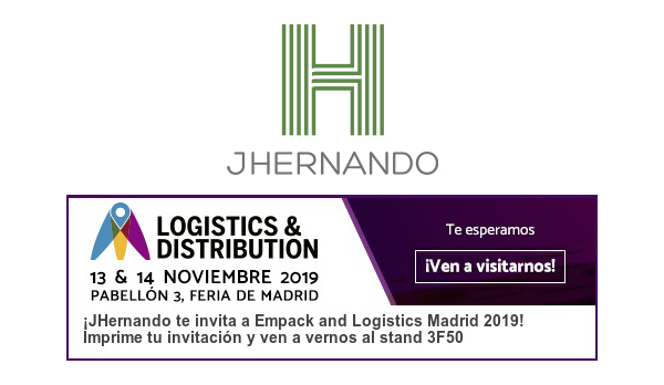 JHernando estará presente un año más en Empack and Logistics Madrid 2019
